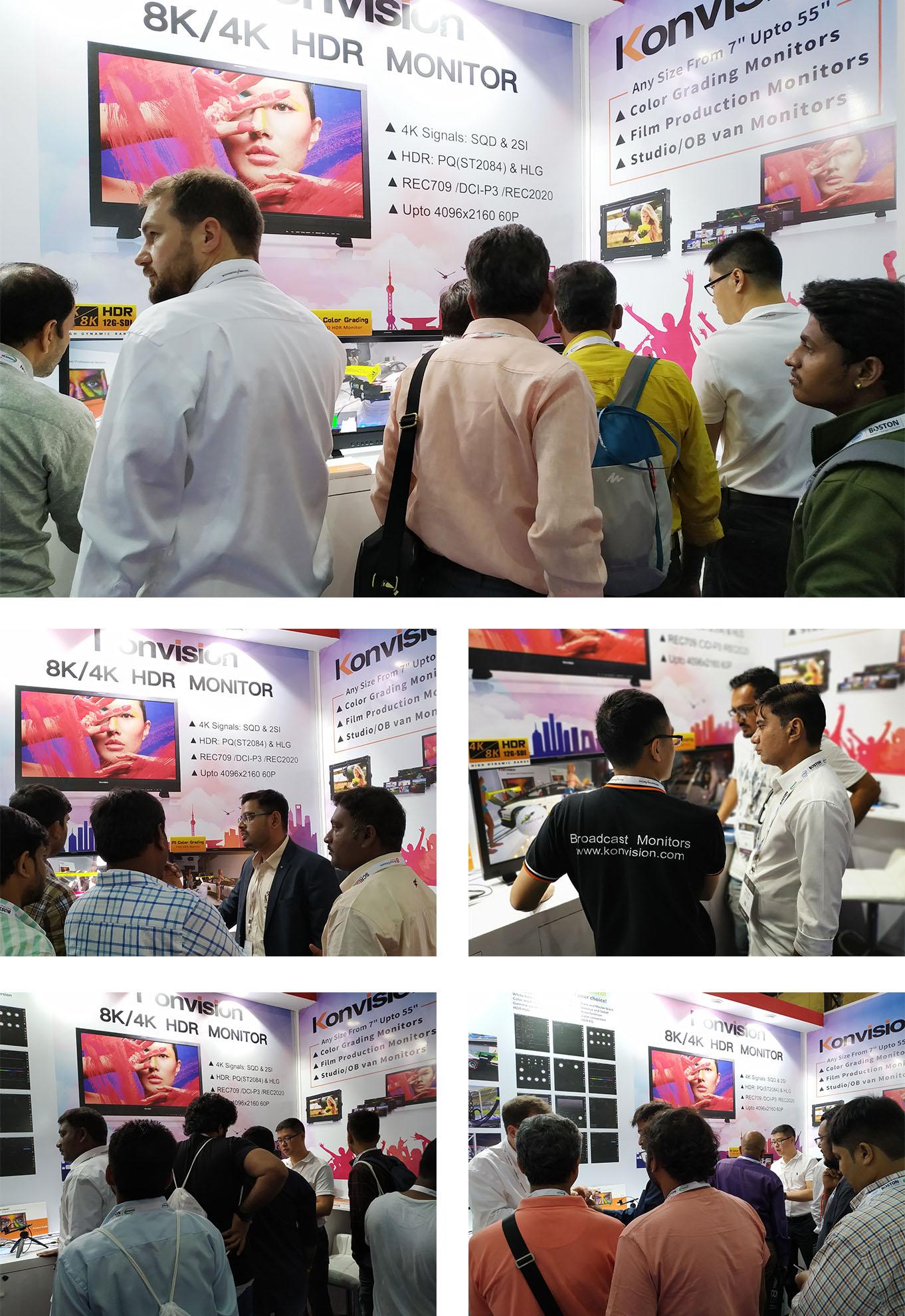 康维讯4K/8K HDR监视器在印度广电展大显身手