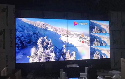 湖南醴陵市1.8mm广播级拼接监视器组装现场